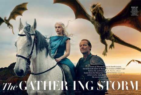 Las estrellas de juego de tronos posan para Annie Leitbovitz