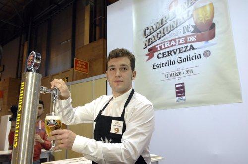 Daniel Giganto, mejor tirador de cerveza de España