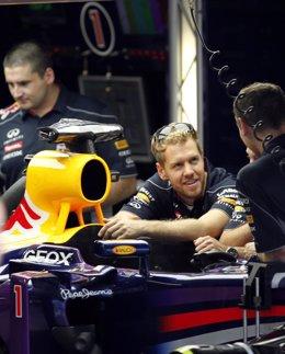 El cuatro veces campeón del mundo de Fórmula 1 Sebastian Vettel