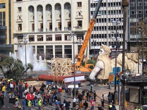 Plantà de al Falla de la plaza del Ayuntamiento de Valencia 2014