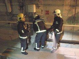 Simulacro en el túnel de Mazorros, del tren Ourense-Santiago-A Coruña