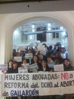Encierro de abogadas en protesta por la reforma de la ley del aborto