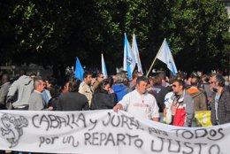 Manifestación de pescadores