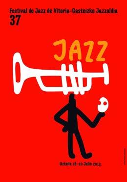 Cartel del Festival de Jazz de Vitoria.