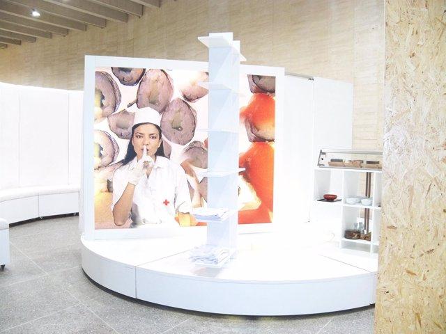 Una de las obras de la muestra 'Framis in Progress' titulada 'Bloodsushibank'