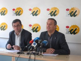 José ANtonio Castro IU junto a José Luis Centella
