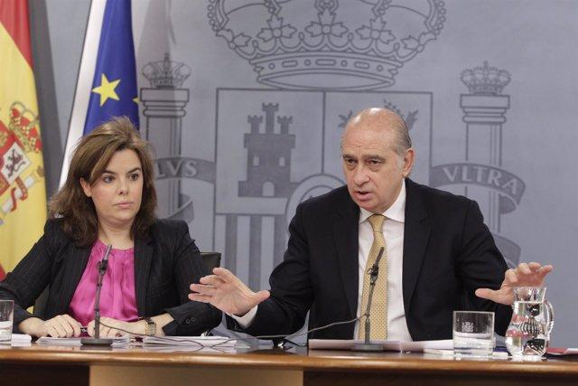 Soraya Santamaría y Jorge Fernández Díaz, Consejo de Ministros
