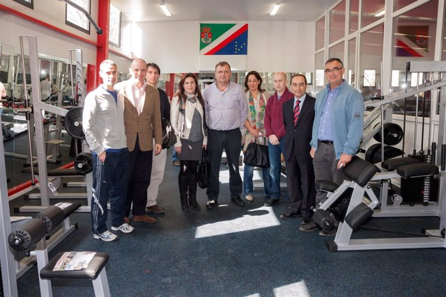 Inauguración del gimnasio del polideportivo de Treceño