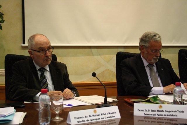 Ribó i Massó y Maeztu, en las jornadas sobre defensores del pueblo de la UJA.