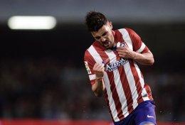 David Villa marca para el Atlético de Madrid
