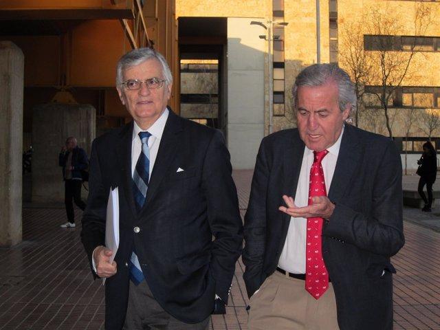 Torres-Dulce junto al catedrático de Derecho Penal de la USAL, Ignacio Berdugo
