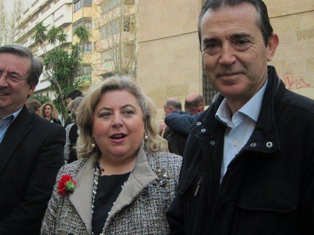 Clara Aguilera junto a Juan Carlos Pérez Navas