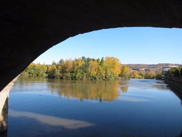 Río Ebro por Logroño