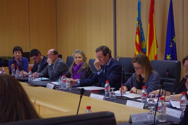 Ribot en la reunión de la Mesa Sectorial de Función Pública.