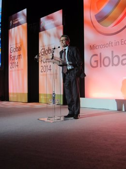 Presidente de la Generalitat, Artur Mas, en la clasura del Congreso Microsoft