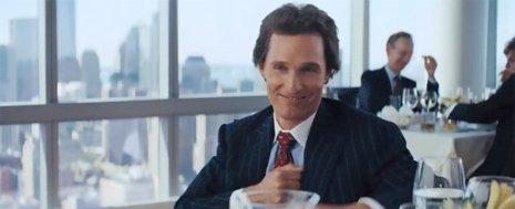 Matthew McConaughey en El lobo de Wall Street