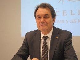 El presidente de la Generalitat, Artur Mas