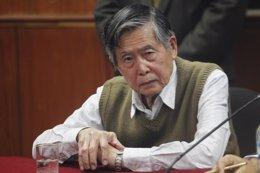 El ex presidente peruano Alberto Fujimori en el juicio por los 'diarios chicha'