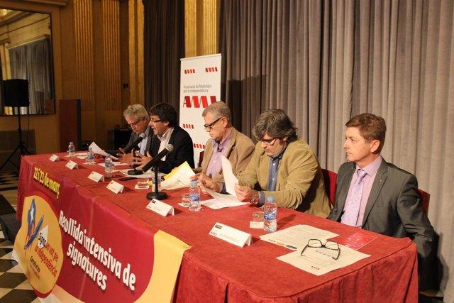 Antoni Solà, Carles Puigdemont, Jaume Marfany, Jordi Martí, Salvador Balliu