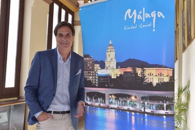 Damián caneda, concejal de turismo de málaga