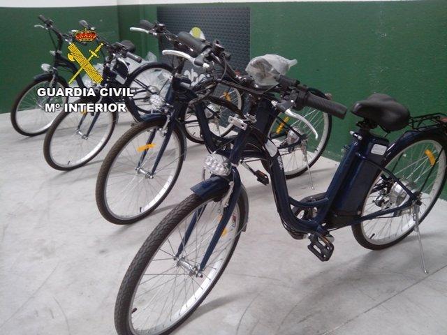 Bicicletas eléctricas falsificadas intervenidas por la Guardia Civil
