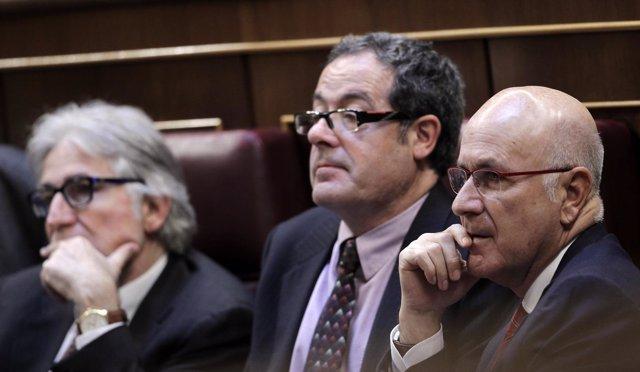 Josep Sánchez Llibre, Pere Macias y Josep Antoni Duran i Lleida