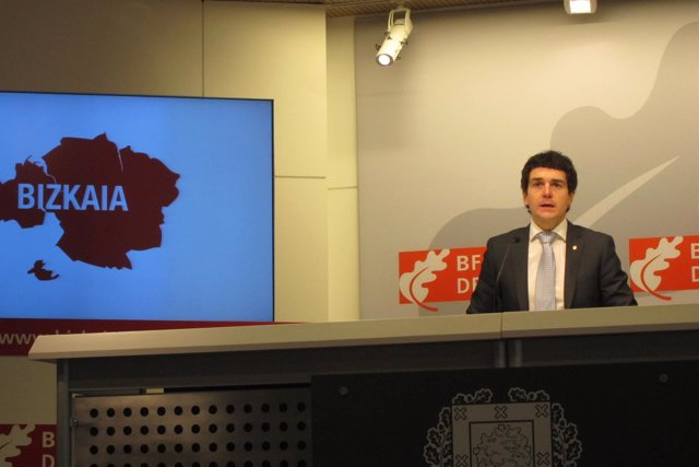 El portavoz de la Diputación de Bizkaia, Unai Rementeria
