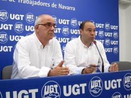 Juan Goyen y Manuel Gómez, de UGT.