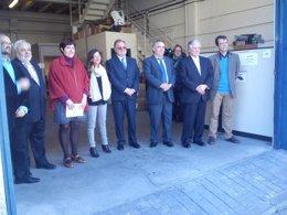 Arturo Fernández con empresarios de Villaverde