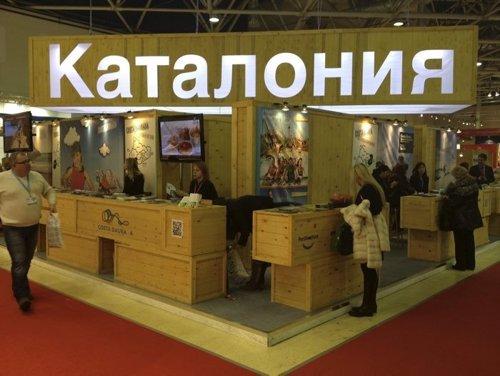 Expositor de Catalunya en la feria Mitt de Moscú
