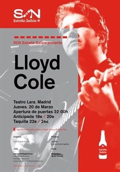Lloyd Cole regresa a Madrid y Zaragoza