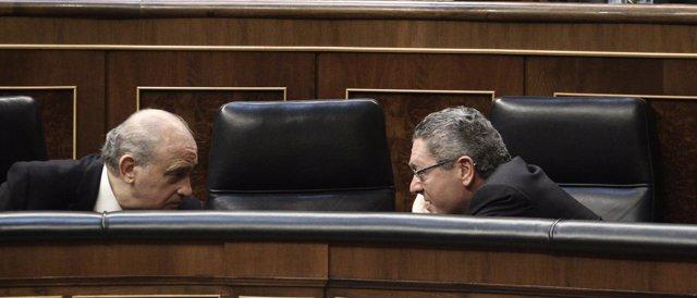 Jorge Fernández Díaz y Alberto Ruiz Gallardón