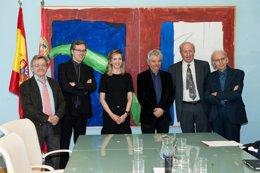 Reunion del jurado del Premio de Castilla y León de las Artes 2013. Componene el