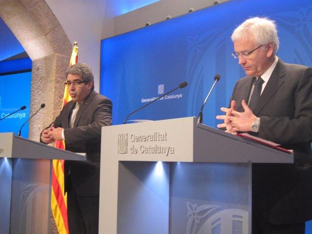 Francesc Homs, Ferran Mascarell, consellers de la Generalitat
