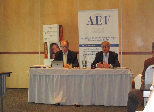 Xavier Vallhonrat y Eduardo Abadía franquicias AEF