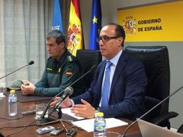Rueda de prensa del delegado del Gobierno en Melilla, Abdelmalik El Barkani