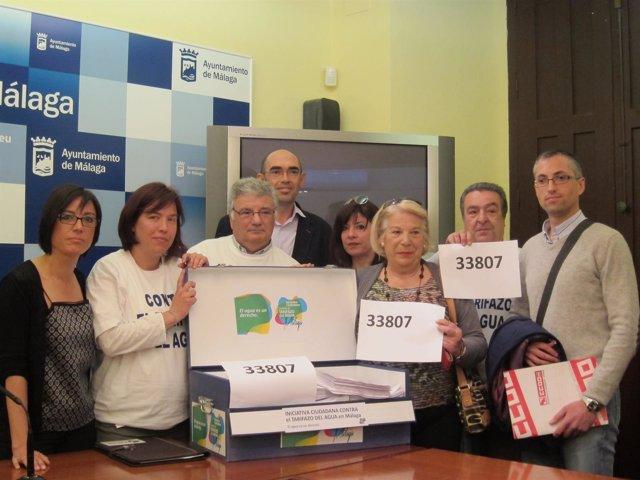 La Iniciativa Ciudadana contra el Tarifazo del Agua, firmas