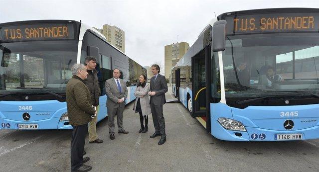 Nuevos autobuses del TUS bajos en emisiones