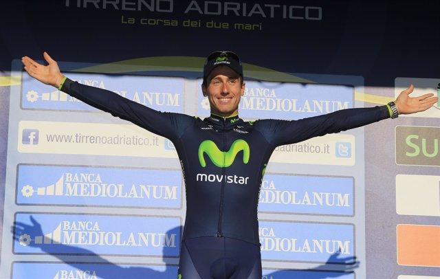 Adriano Malori, del Movistar, ganador de la crono de la Tirreno