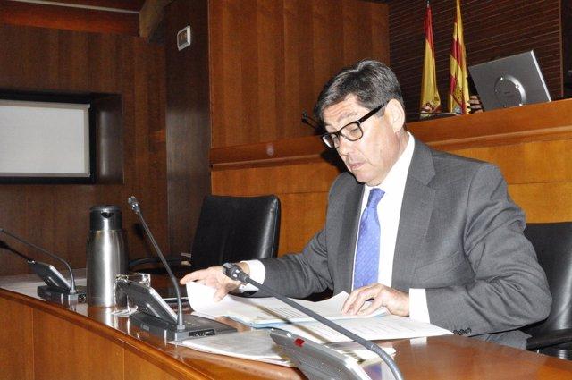 El consejero de Industria e Innovación del Gobierno de Aragón, Arturo Aliaga