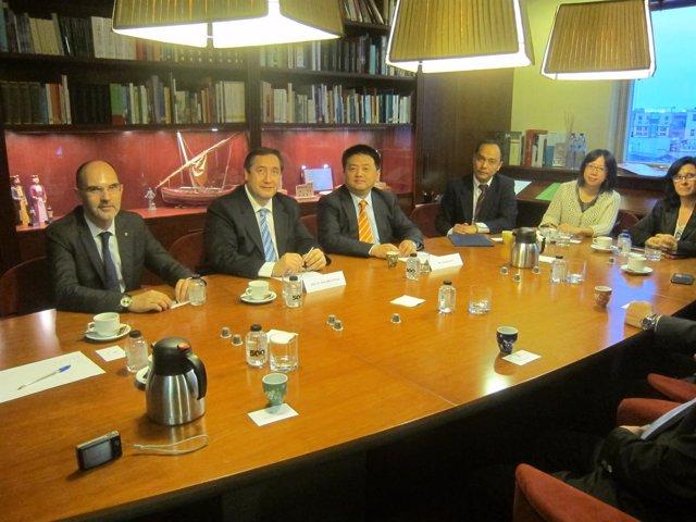 El conseller Josep Maria Pelegrí se reúne con la delegación de Haibo