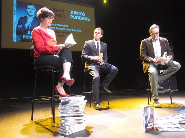 Albert Rivera y Juan Carlos Girauta en la presentación del libro del primero