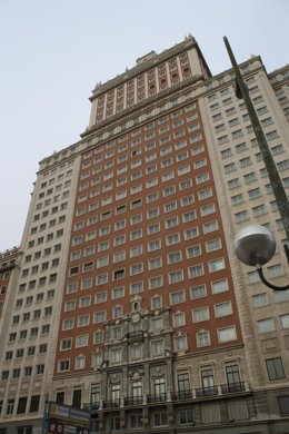 Edificio España en la plaza de España de Madrid