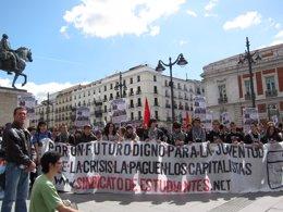 Manifestación Sindicato de Estudiantes