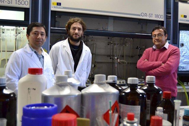 El profesor de la UAL Antonio Romerosa y sus investigadores