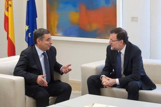 Rajoy con el presidente del Consejo Económico Social europeo