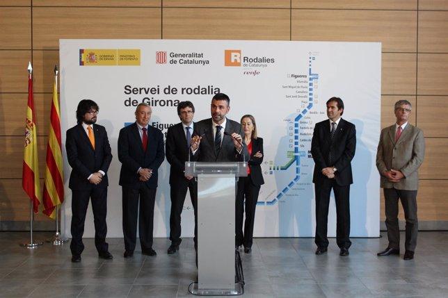 Presentación de las nuevas Rodalies de Girona, con la ministra A.Pastor