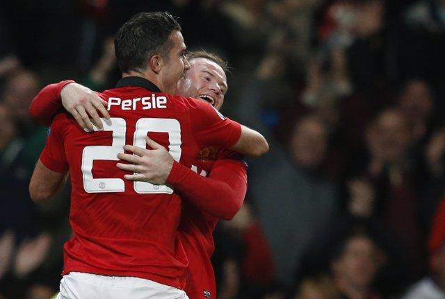 Van Persie y Rooney con el Manchester United