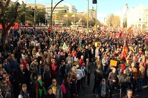 Las 'Marchas de la Dignidad' invanden Madrid