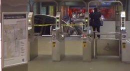 Tren accidentado en Chicago